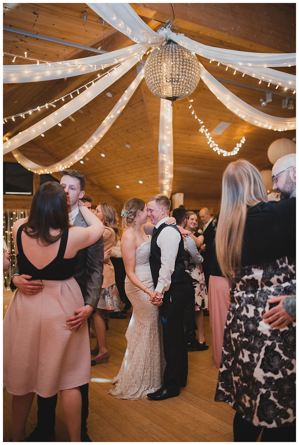 First dance at a winter wedding