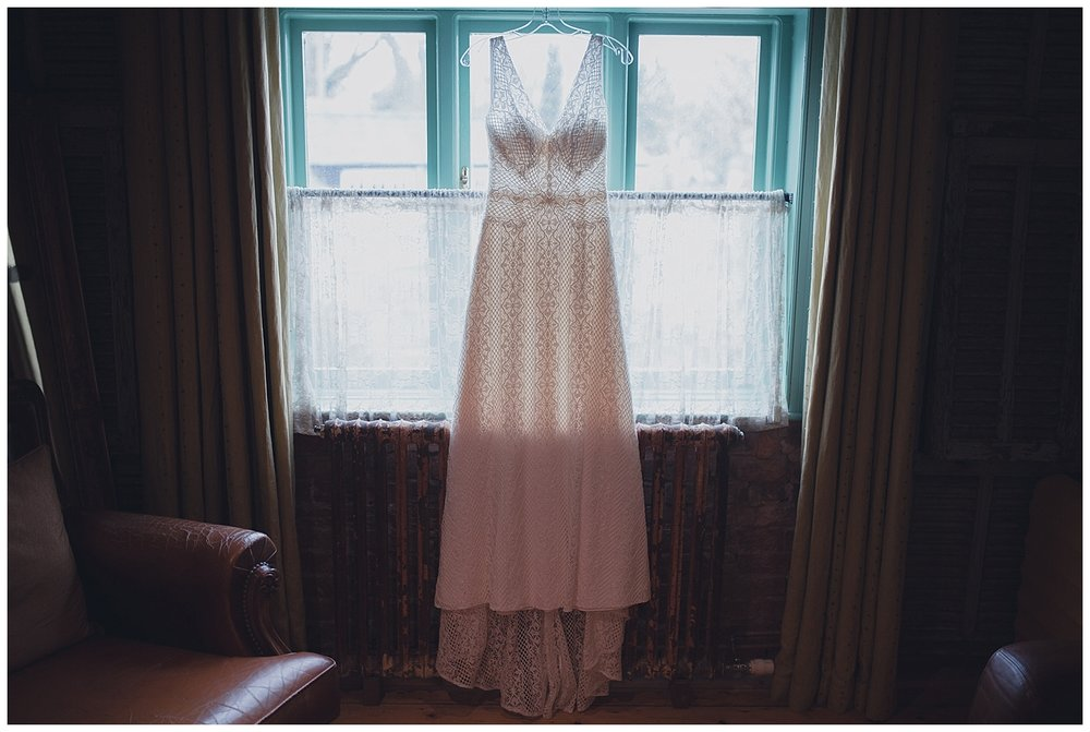 Lace wedding dress by All About Eve of Chester.