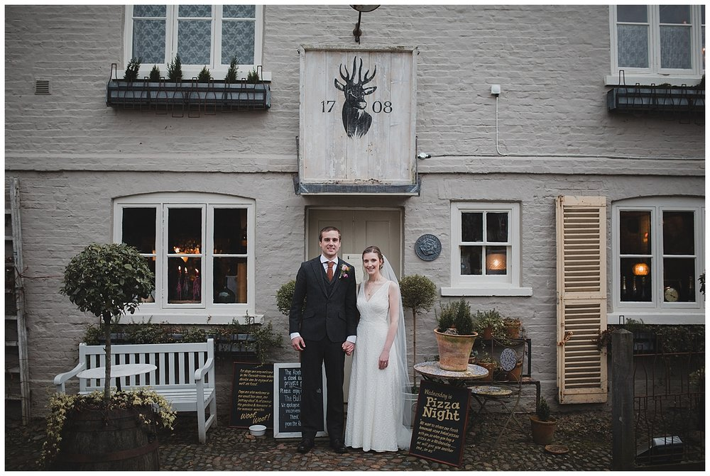 Wedding photography at the Roebuck Inn Mobberley.