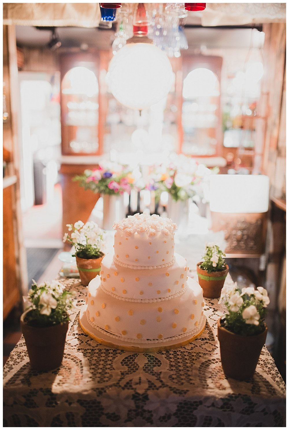 Wedding cake at The Roebuck Inn Mobberley Cheshire.