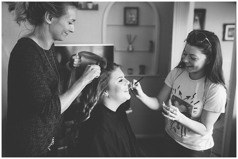 Bridal prep at home for this Endon Stoke wedding.