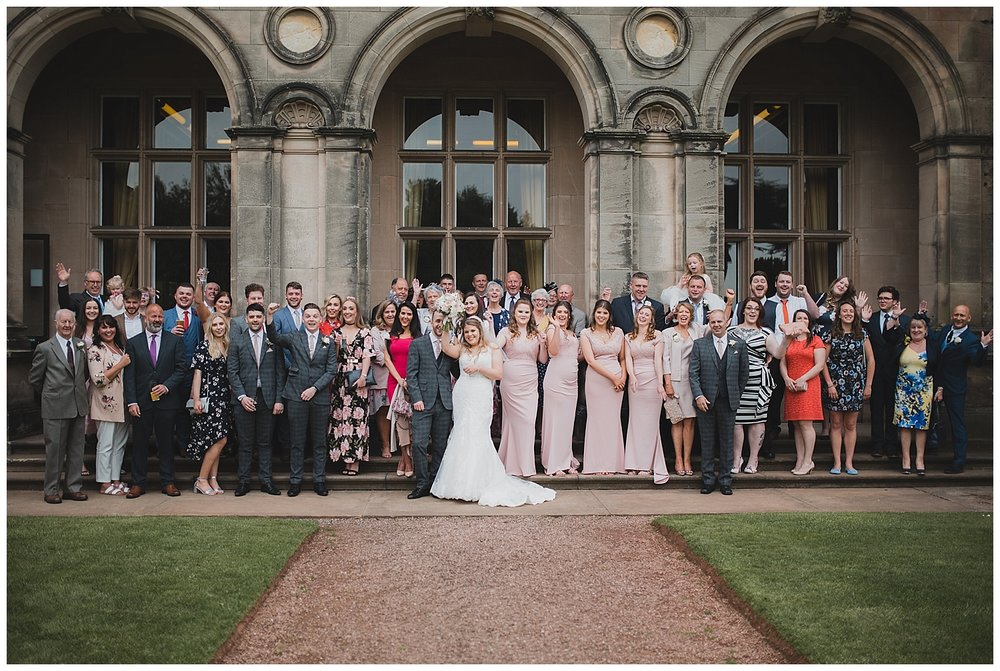 Wedding photography at Keele Hall.