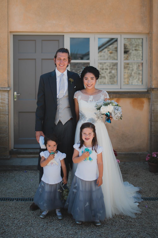 family wedding party at axnoller dorset