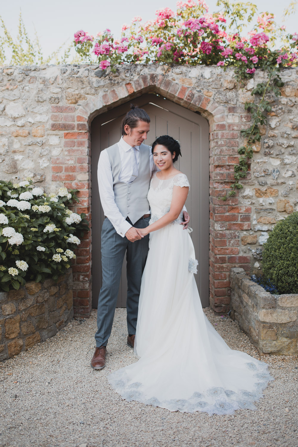 bride and groom at axnoller dorset