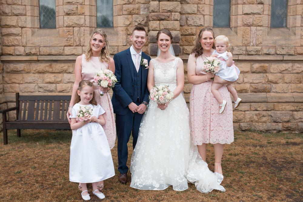 Bridesmaids at Elworth in Sandbach Cheshire