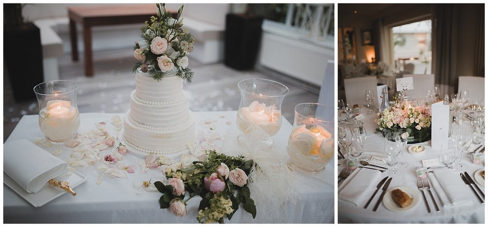 Flowers by Nova Christy weddings at the Yellow Broom in Cheshire.