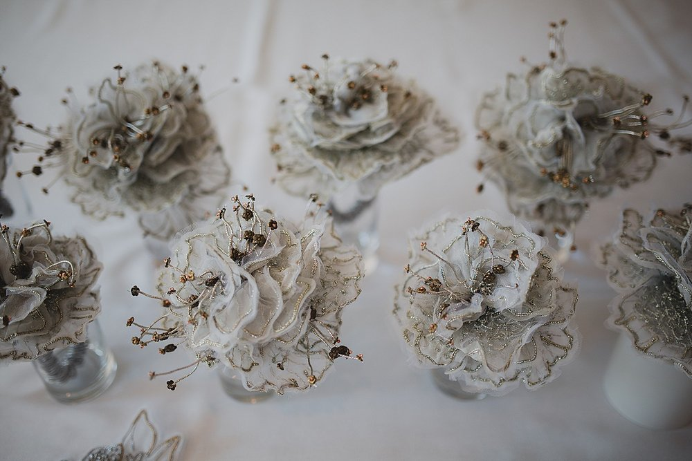handmade lace for wedding flowers