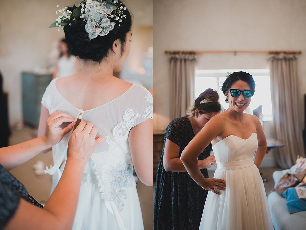 bridal prep with mirror mirror