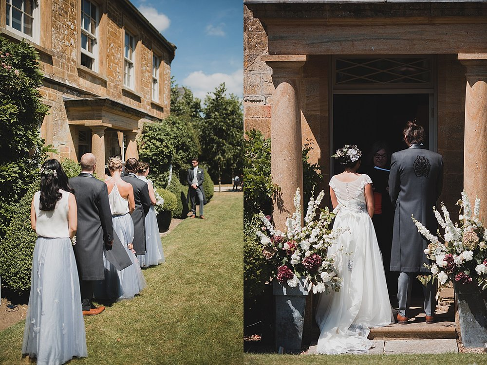 outdoor ceremony dorset photographer