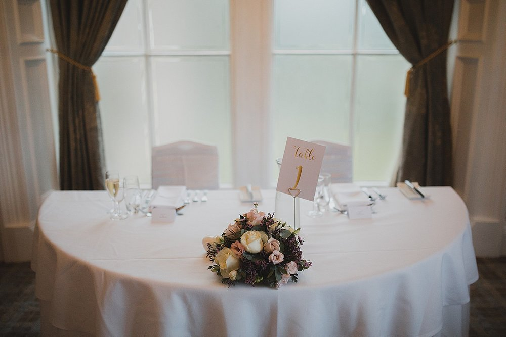 Sweetheart table for your wedding reception