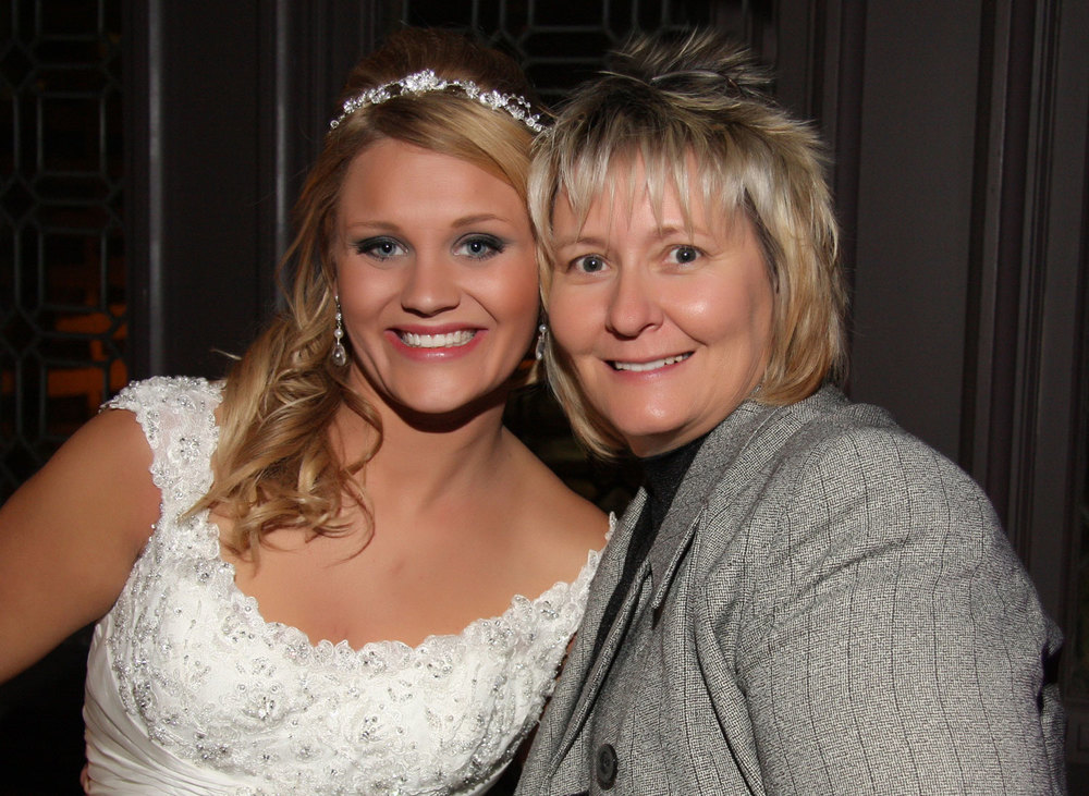 Nancy Kerr with Bride