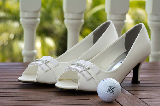 High heel wedding pumps