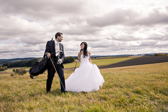Golf Course Wedding photography