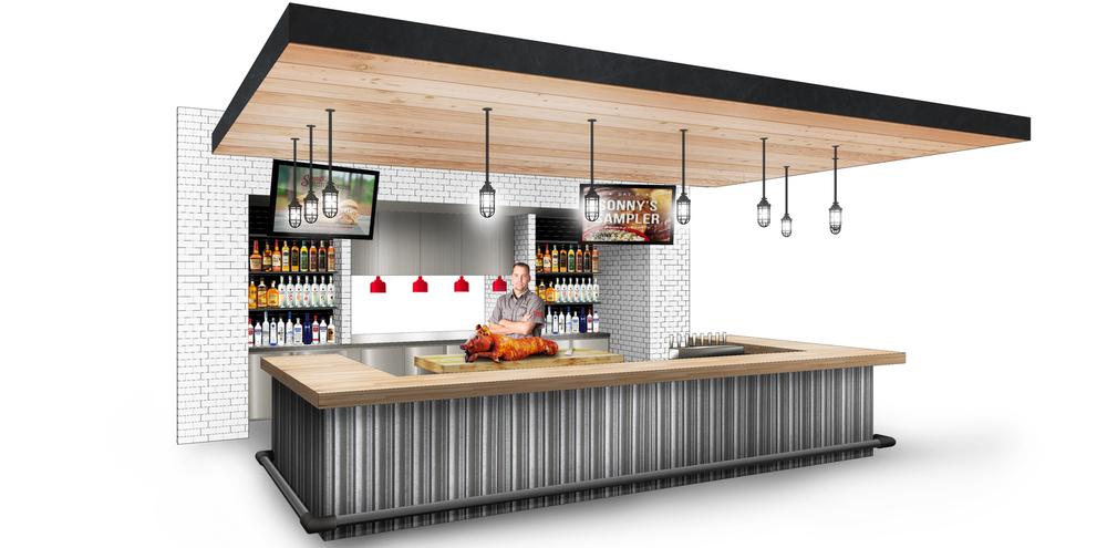 Sonnys BBQ Bar Rendering MWA