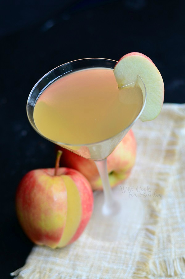 Image via  Will Cook for Smiles    For the vodka drinkers, an  Apple Cider Martini  is a playful twist on the classic cocktail. Just grab some apple flavored vodka - or if you're feeling frisky, play around with a jigger and use fresh squeezed apple juice and plain, old vodka - cinnamon liqueur and Gran Marnier, mix, stir and pour.  Pro-tip: You only want to shake cocktails when there is citrus or egg whites involved.  So grab a bar spoon and get stirring!