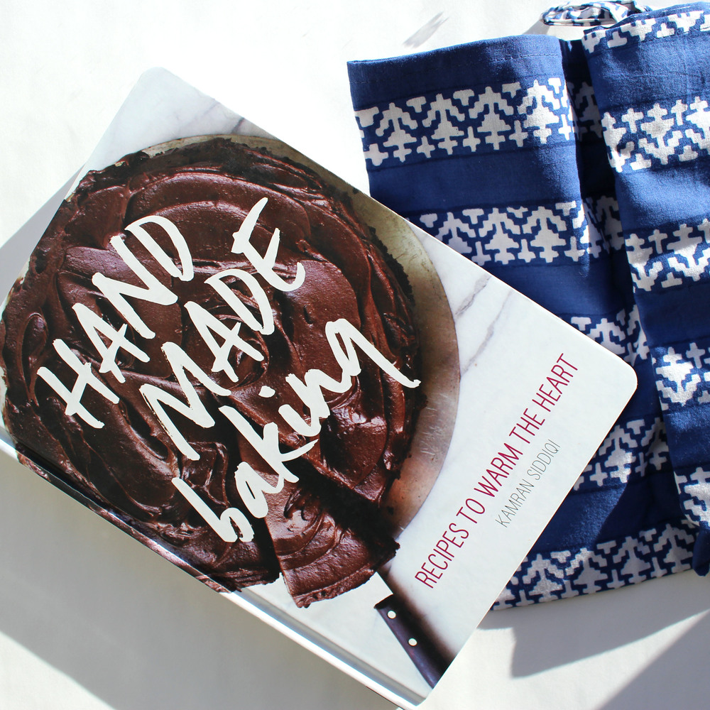 Handmade Baking Cookbook, $29.95 , Tea Towel, $9 in store