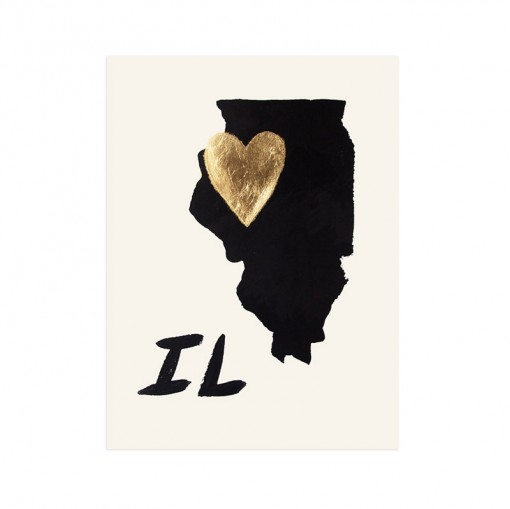 Heart Illinois Print, $50