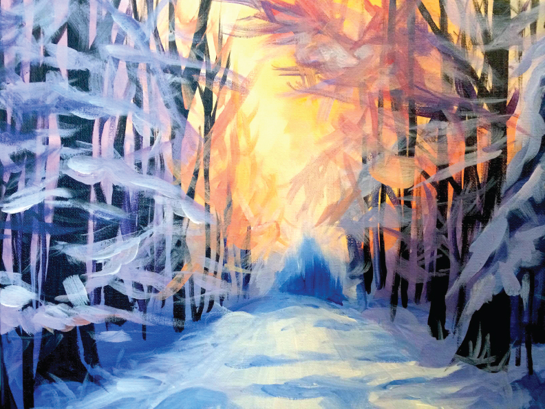 Winter Landscape BYOB Painting