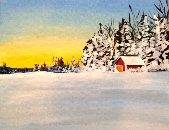 Cabin In the Woods BYOB Painting
