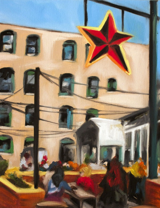 Painting by  Amanda Smith . (Big Star Patio, 2013.)