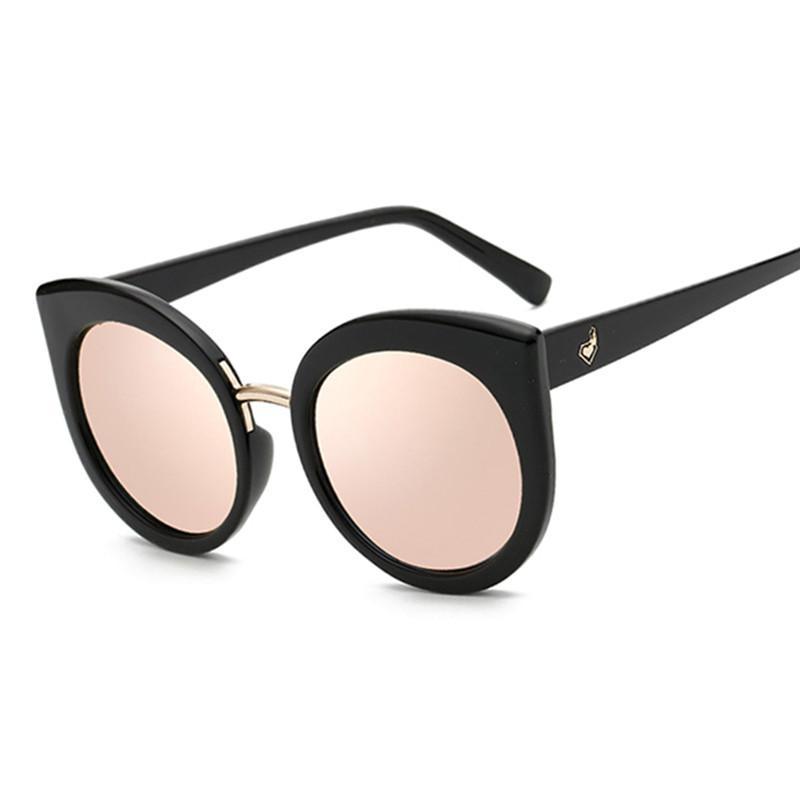 36d179ec818 Oversized Mirrored Cat Eye Sunglasses — One Strange Bird