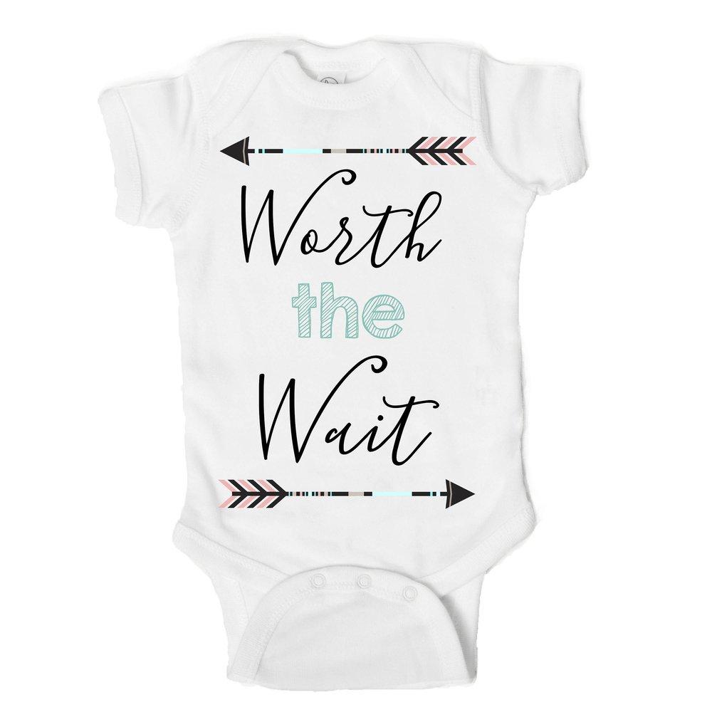 d05622775 Worth the Wait Funny Newborn Baby Onesie — One Strange Bird
