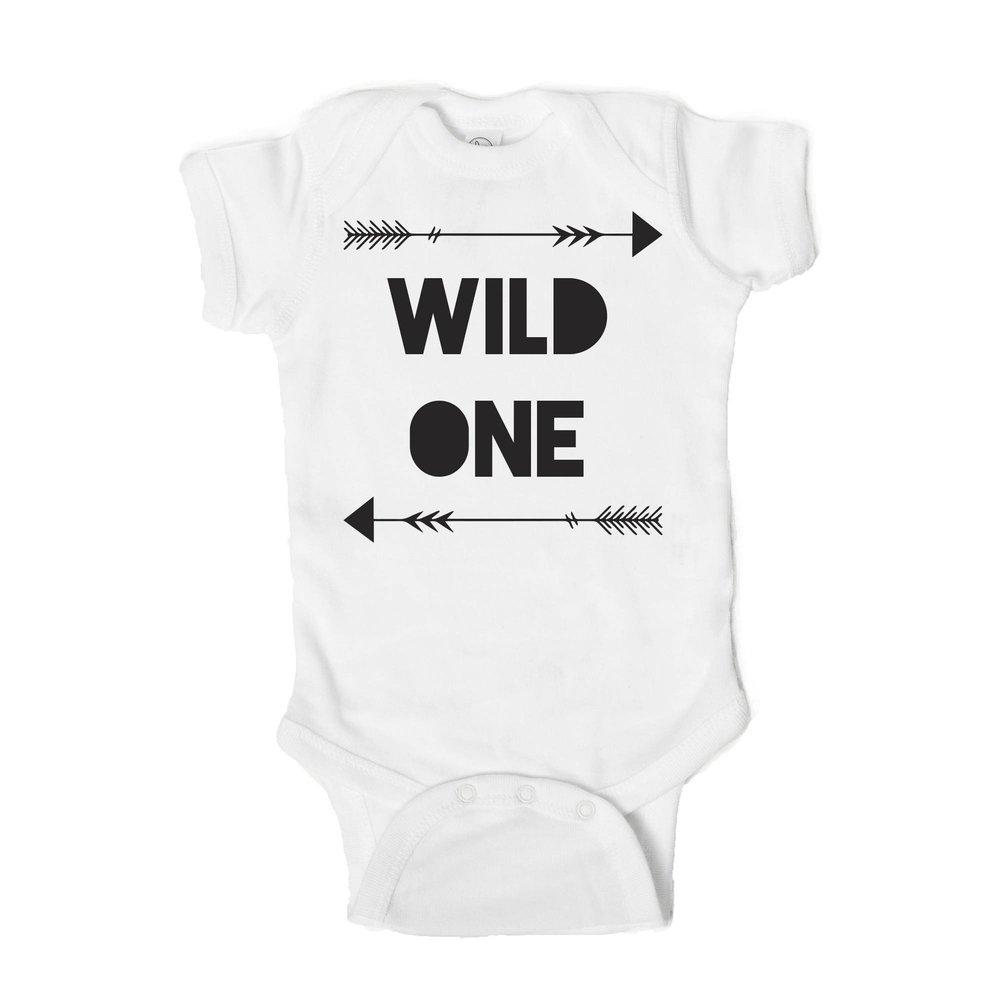 Wild One Baby First Birthday Onesie Strange Bird