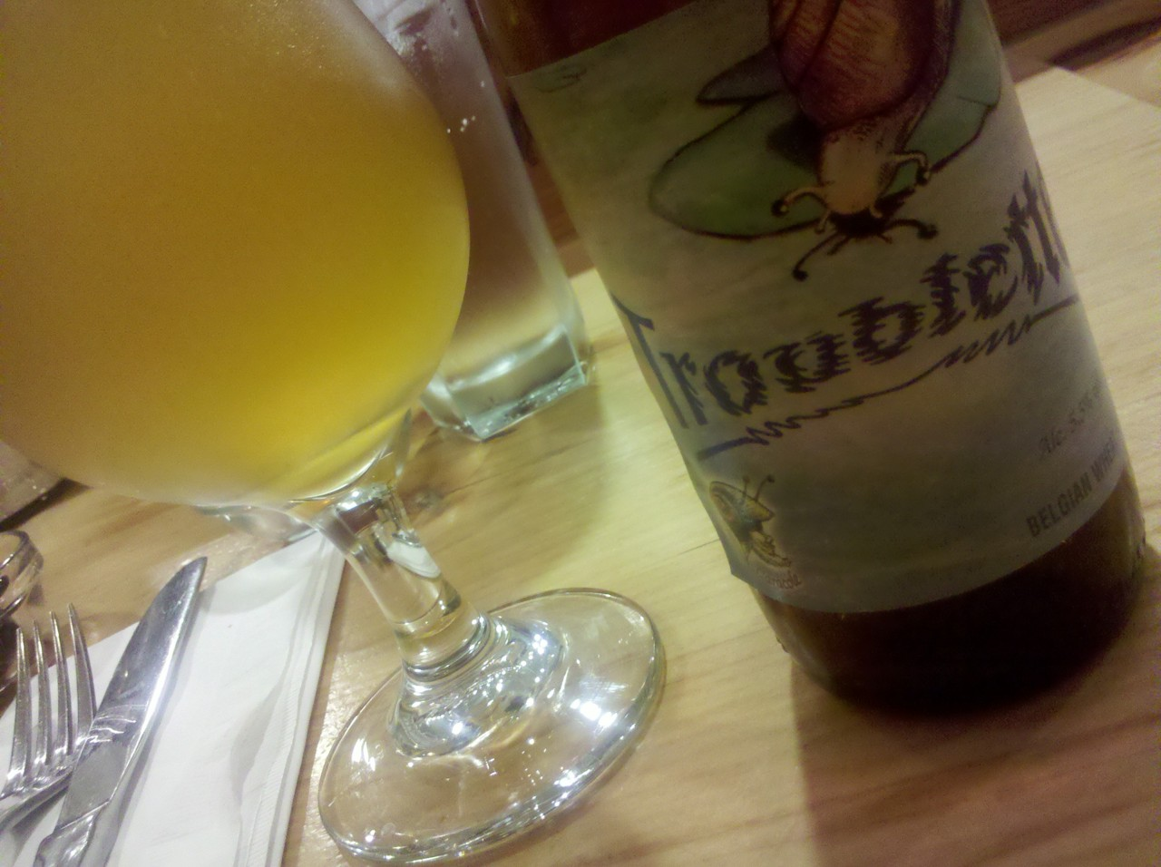 I'm back on the beer again! Caracole Troublette    belgian #witbier