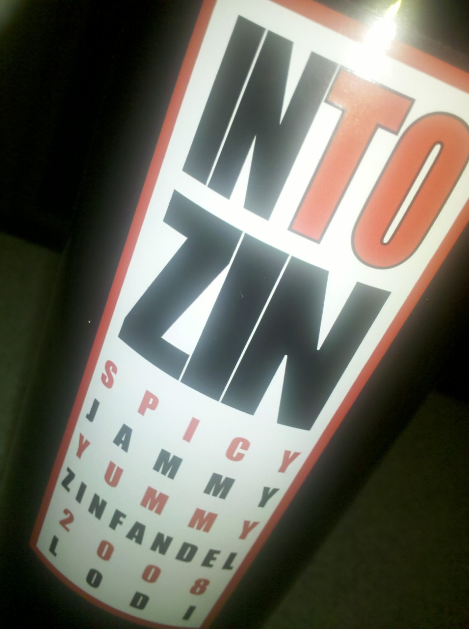 A spicy jammy red for a cold May night.  2008 Into Zin by Oak Ridge Winery, Lodi CA