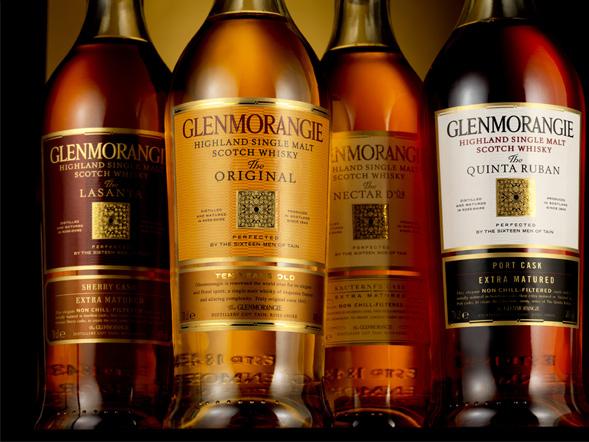 The Glenmorangie family of Scotch
