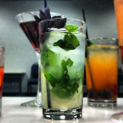 Refreshing blend of Blueberry Vodka, Orange Vodka, fresh basil and lemonade.