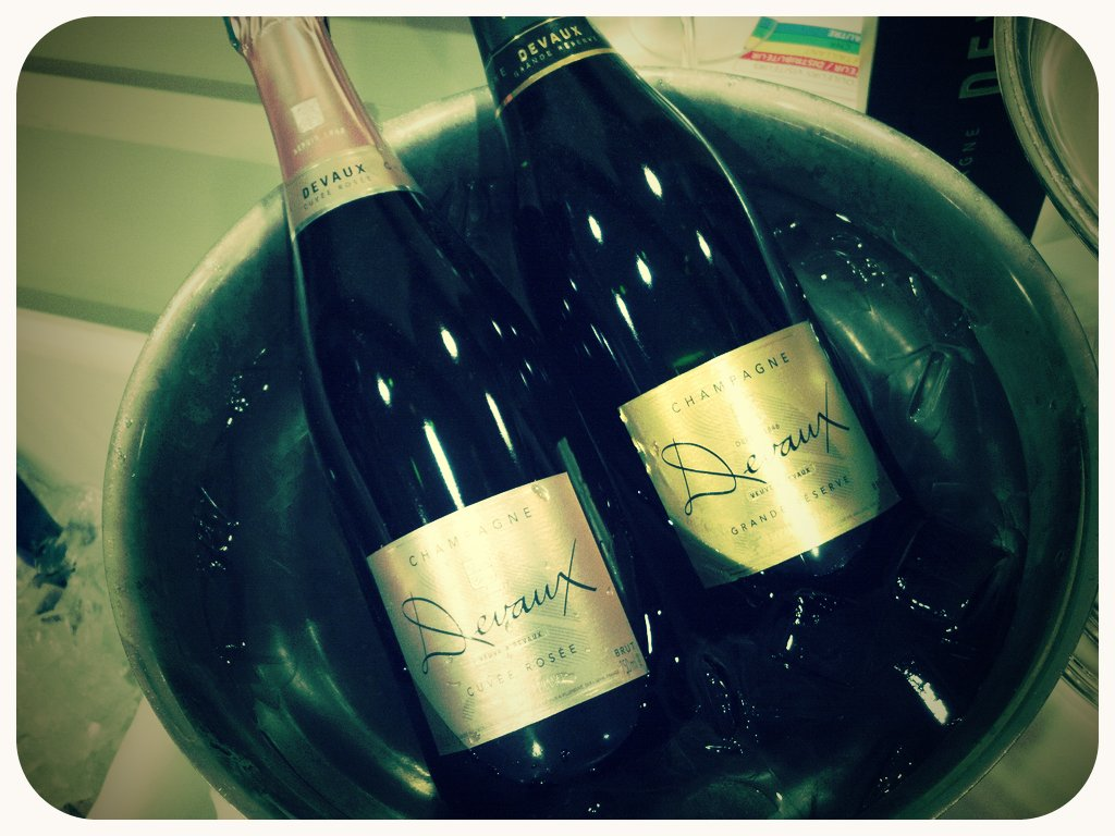 Champagne at the French Wine Road Show (Taken with  picplz .)