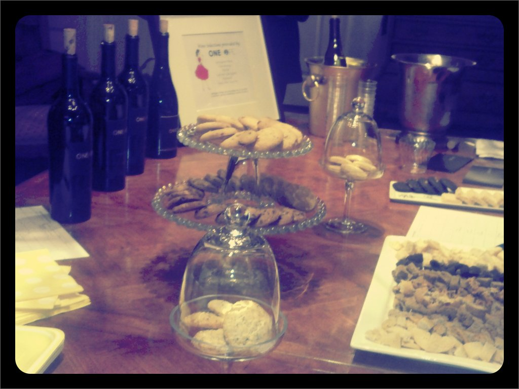 Cookies and Wine! #lovingmyjob (Taken with  picplz .)