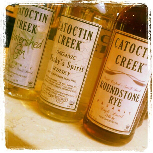 Enjoying a tasting of @catoctincreek. Emily is taking great care of us!! (Taken with  instagram )
