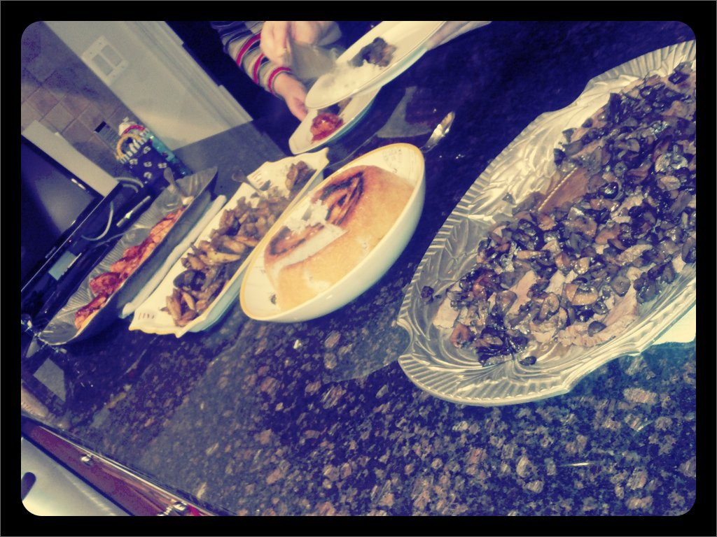 Dinner is served!! (Taken with  picplz .)