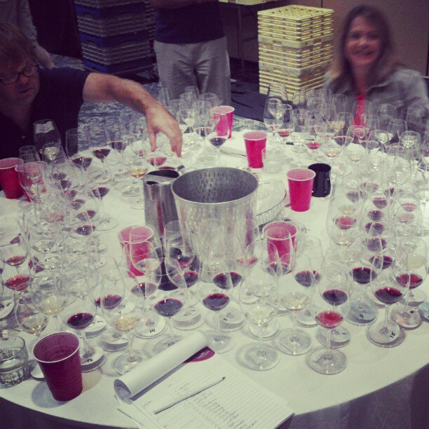 Holy S!!! The final flight with Laurie Forster, The Wine Coach #winejudging (Taken with  Instagram )