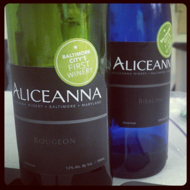 A red and white from Aliceanna Winery in Baltimore, MD #mdwine (Taken with  Instagram )