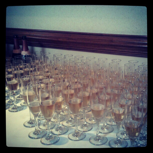 A little bubbly to start the nite  (Taken with  Instagram )
