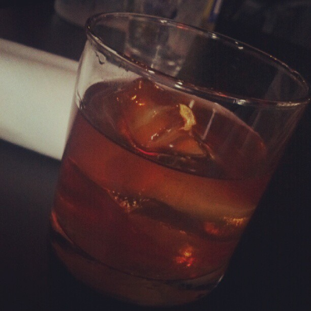 Smoldering Nuts - corsair triple smoke, nocello, dumante, manzanilla sherry, whiskey barrel bitters #gmg (Taken with  Instagram )