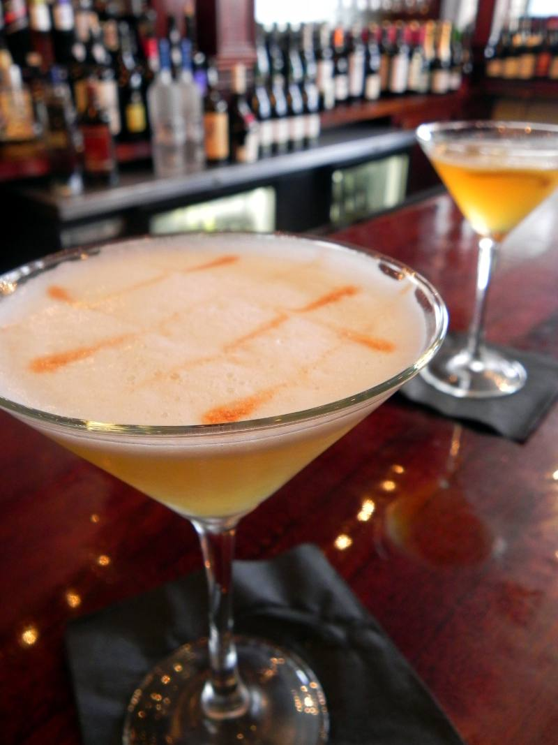 """""""Low Country Sour"""" - Genever, ginger snap liqueur, lemon, egg white and bitters from  Coquette"""