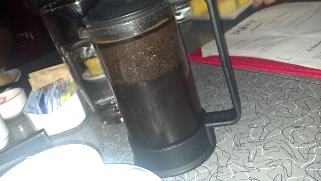 The freshest French Press coffee!! Policy restaurant, DC