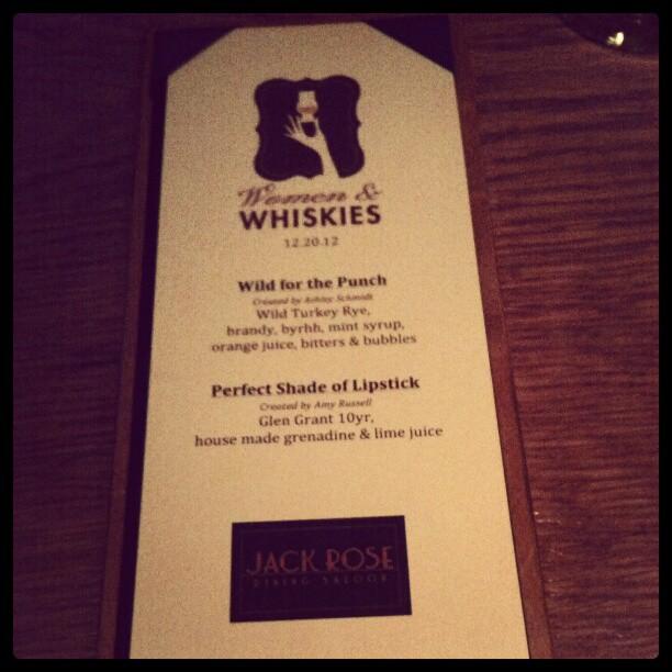 Women and Whiskies @JackRoseDC #gmg