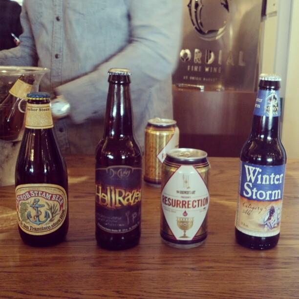 Super bowl-themed beer tasting #DIYUM