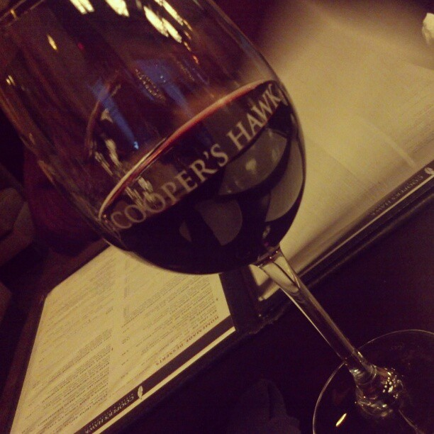 Drinking local in IL. Cooper's Hawk Red - cab/merlot blend