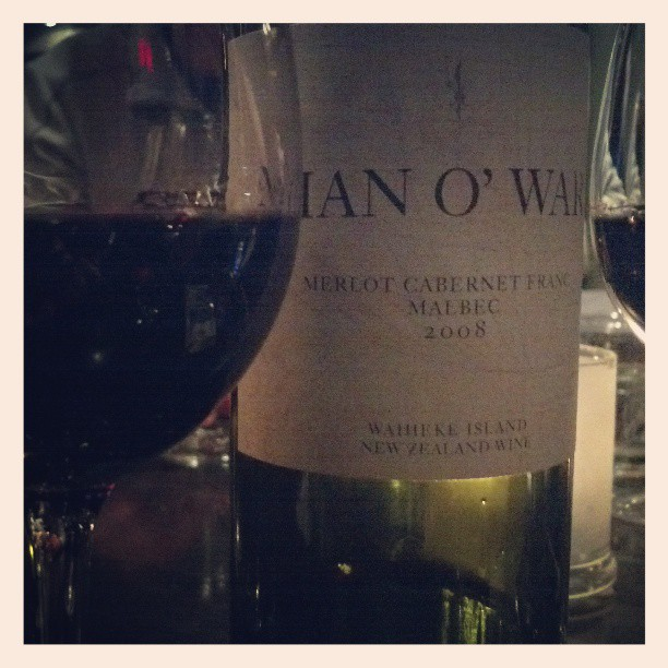 2008 Man o' War - merlot, cab franc, malbec from NZ #redwine #winetasting