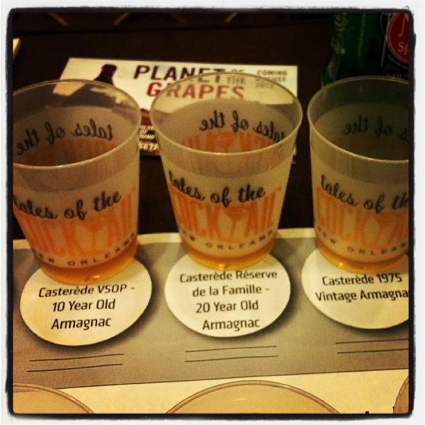 Flight of Casterede Armagnac #grapespirits #TOTC  (at Queen Anne Ballroom Hotel Monteleone)