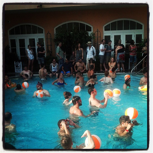Angostura pool party #TOTC (at Hotel Monteleone Rooftop Pool & Patio)