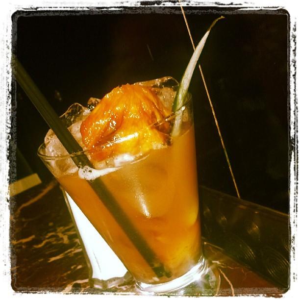 Pineapple Smash - muddled pineapples, Basil Hayden bourbon (at Grand Lux Café)