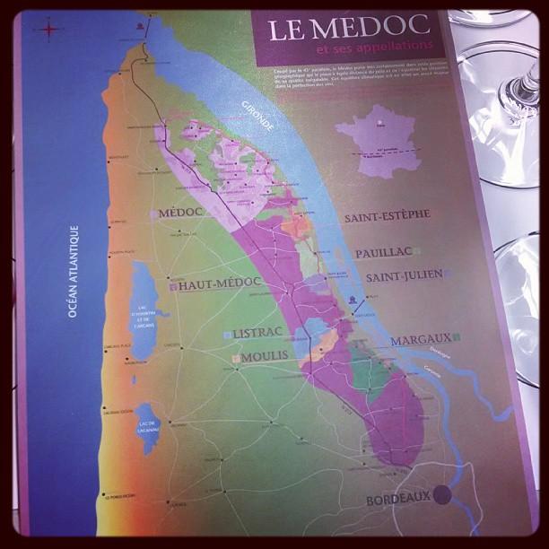 I love wine maps!! #winenerd #MedocMasterClass #Bordeaux  (at Capital Wine School)