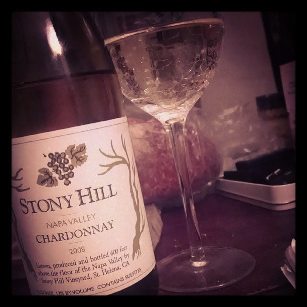 Going back to my roots tonight with a Napa Chard. Not an oak bomb, but just enough to enhance the fruit.